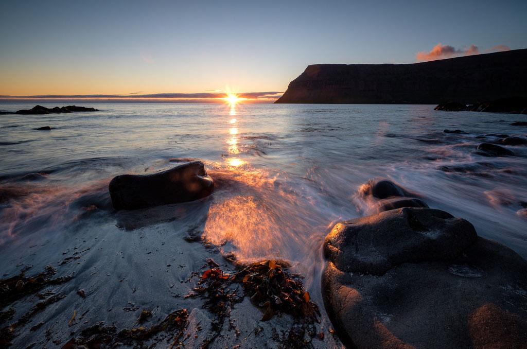 Sonnenuntergang bei Suðureyri Westfjorde Sunset near Suðureyri