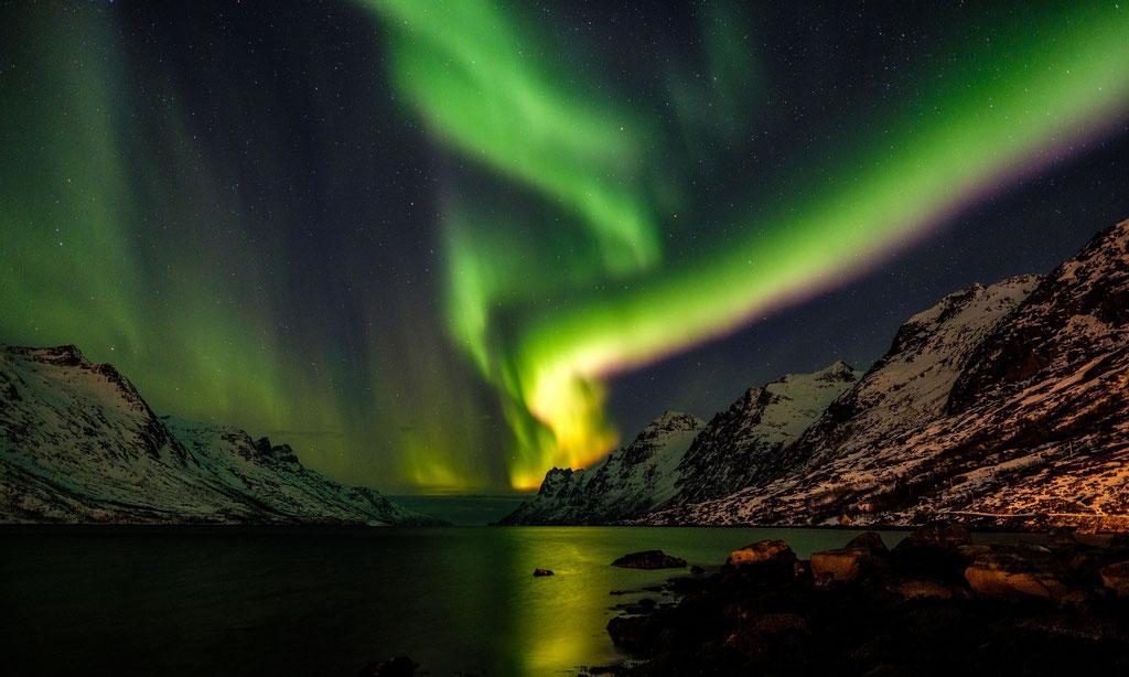 Polarlicht Polarlights Ersfjord Kvaløya