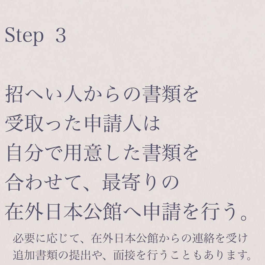 短期滞在ビザ申請手続き案内STEP3【ビザカナ相模原】