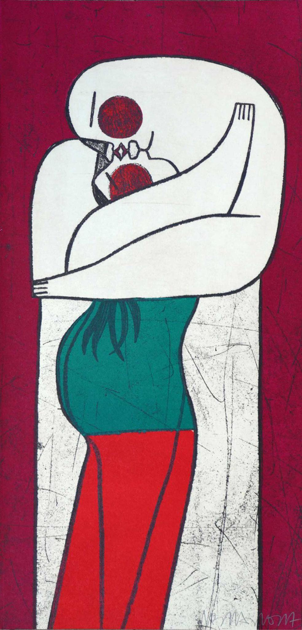 DONDE EMPIEZA TODO,  Aguafuerte+ acetato,25 x52 cm.
