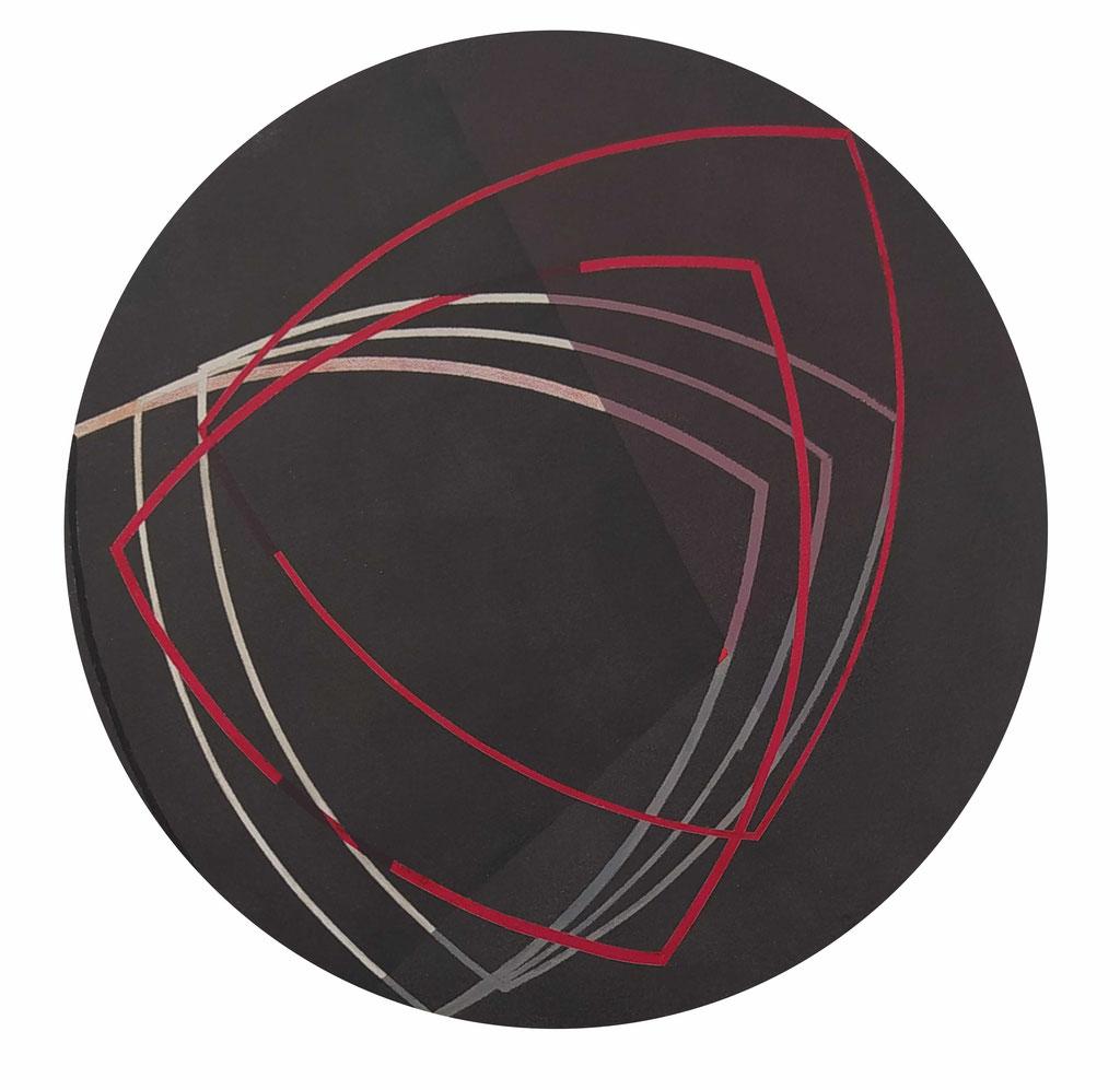 Cesura 3. Acrílico sobre lienzo. 40 cm