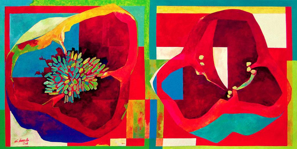 er l´Oliva, 2009, acrílico sobre lienzo. 70x140cm.