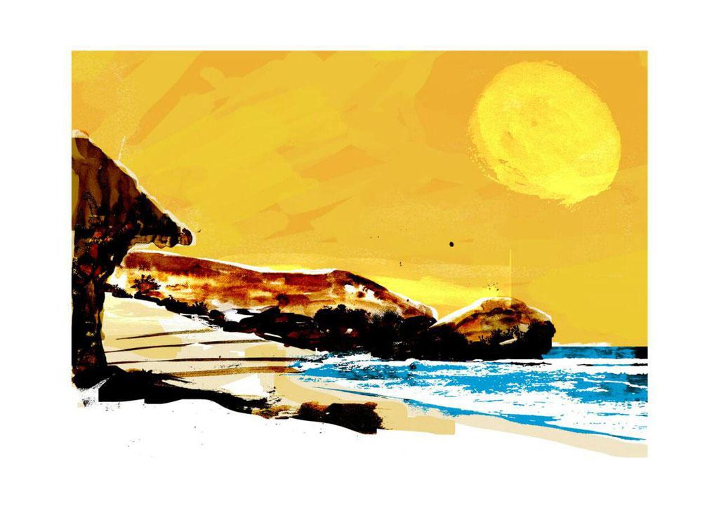 Sol  Mónsul. Dibujo digital.