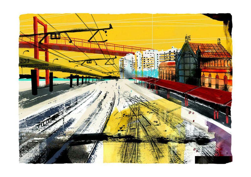 Sol  Estación II. Dibujo digital.