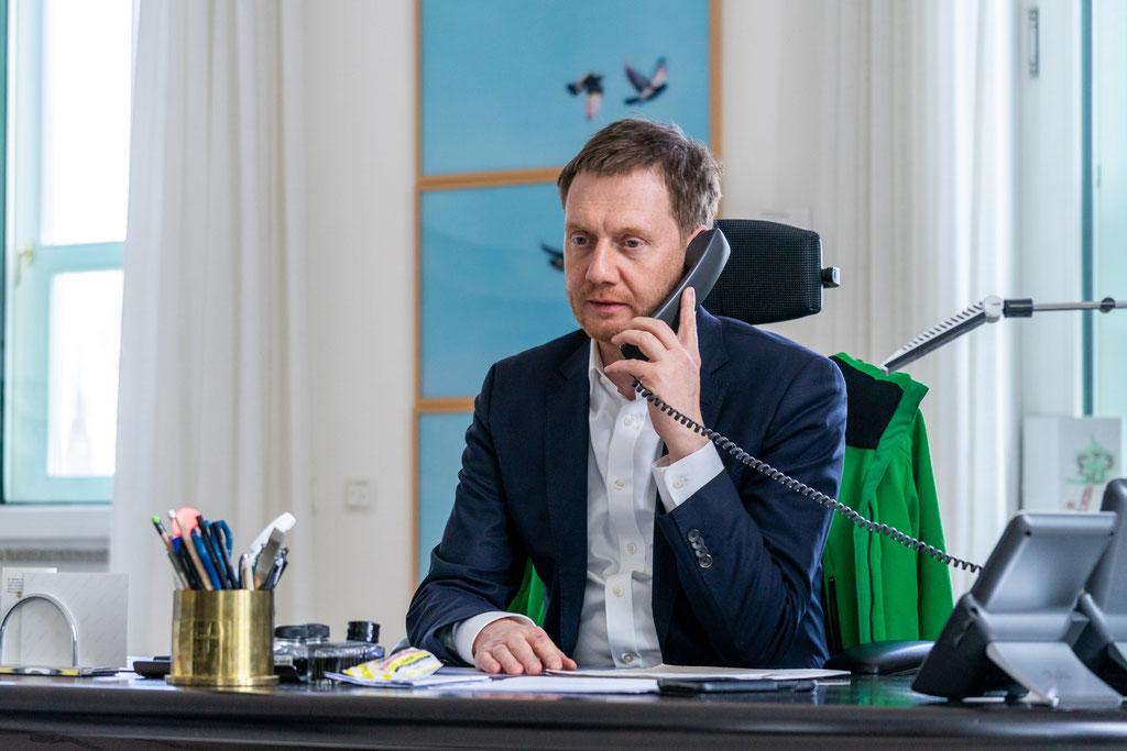 Sächsischer Ministerpräsident Michael Kretschmer (2019)
