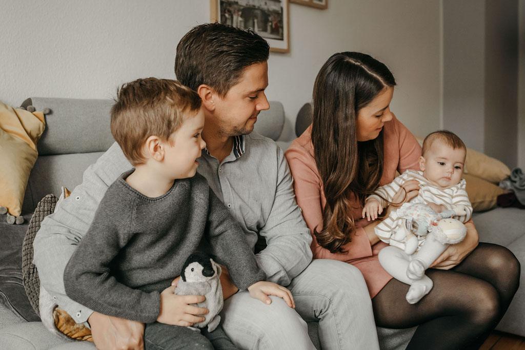 Familienfoto 4-köpfige Familie
