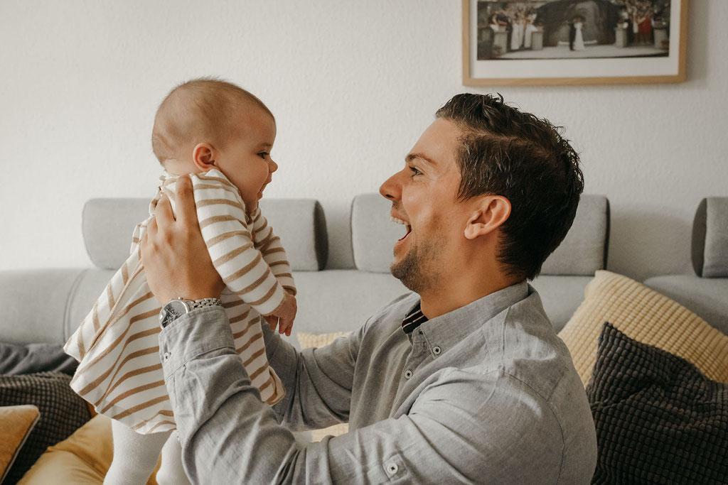 Papa und Baby Foto in Hamburg