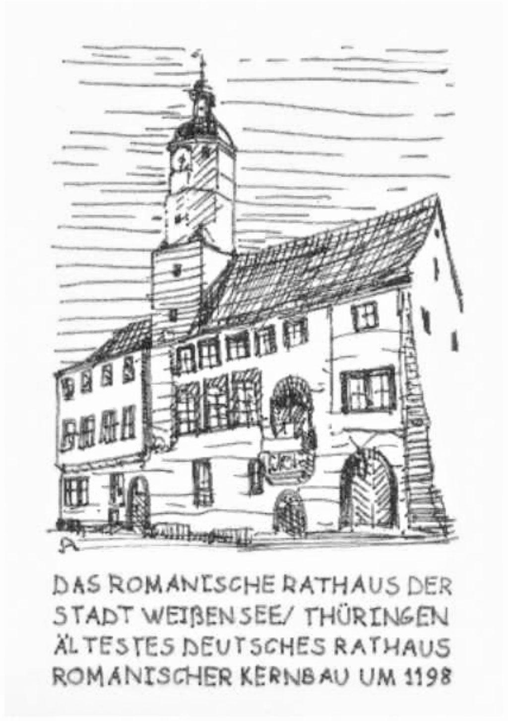 Romanisches Rathaus Weißensee, Algrafie