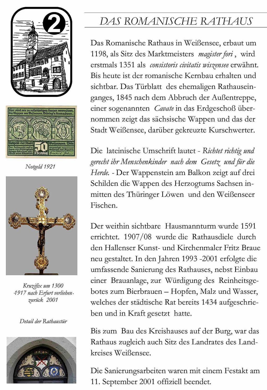 Das Romanische Rathaus in Weißensee Text und BIlder