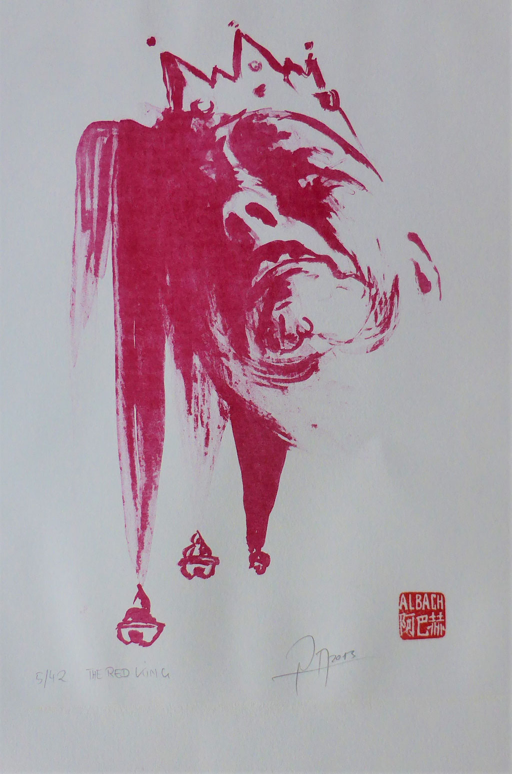 RED KING , Alugrafie auf Bütten