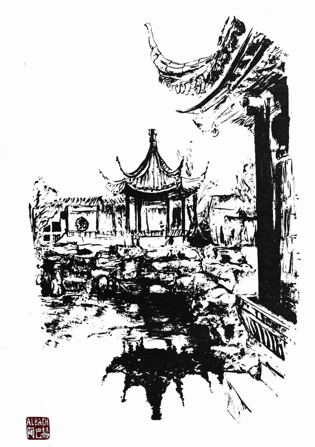 Garten des ewigen Glücks- Pavillon der Freude