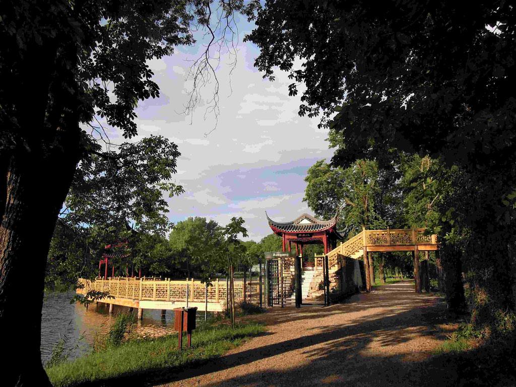 Chinagarten am Gondelteich in Weißensee, Promenade