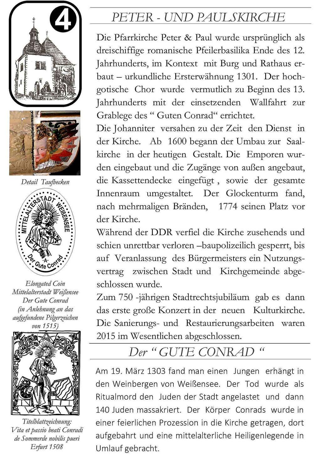 Stadtkirche, Der Gute Conrad und Maria mit dem Barte - Texte und Bilder
