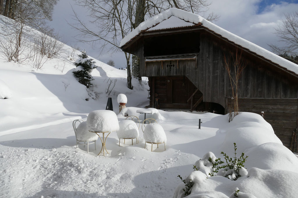 Winterstimmung Spycher Neuhaus
