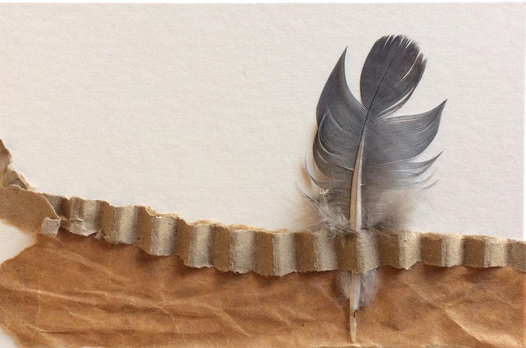 "Cristina Castañeda   ""Teruel""   Collage on cardboard   8 cm x 12 cm  2017"