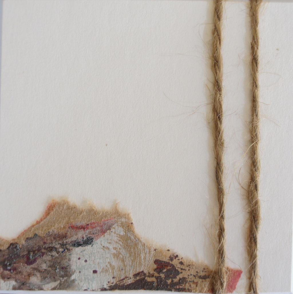 """Menorca N. 2""   Mixed Media on carton board   8 x 8 cm   2017"