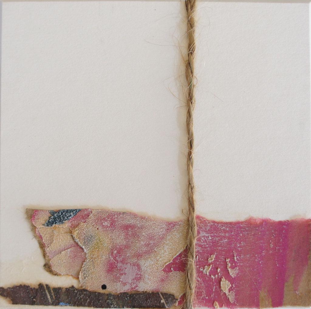 """Menorca N. 1""   Mixed Media on carton board   8 x 8 cm   2017"