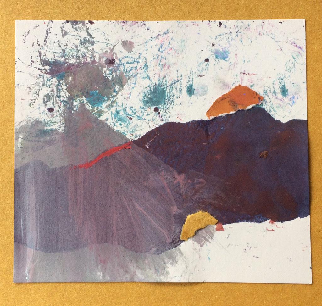"""Menorca N. 4""   Mixed Media on carton board   15 x 14,4 cm   2017"