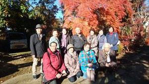 花散策クラブ 11月29日に安行・植木の里を散策1
