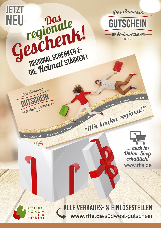 """Flyer """"Das regionale Geschenk""""  / DIN A 5"""
