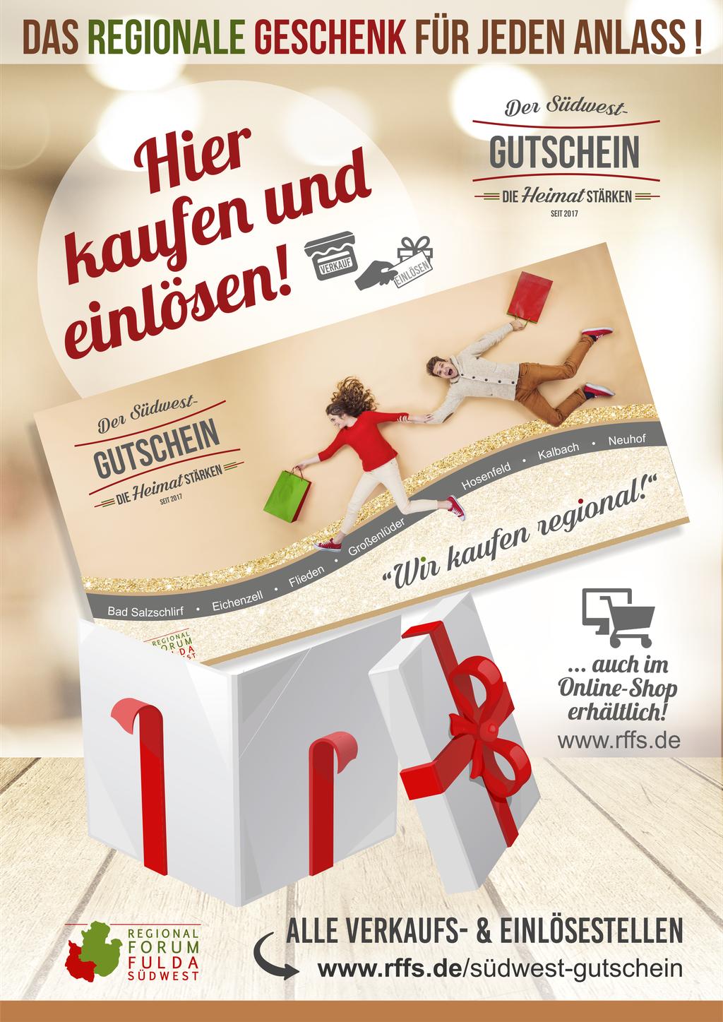 """Poster """"Hier kaufen & einlösen""""  /  DIN A 3"""
