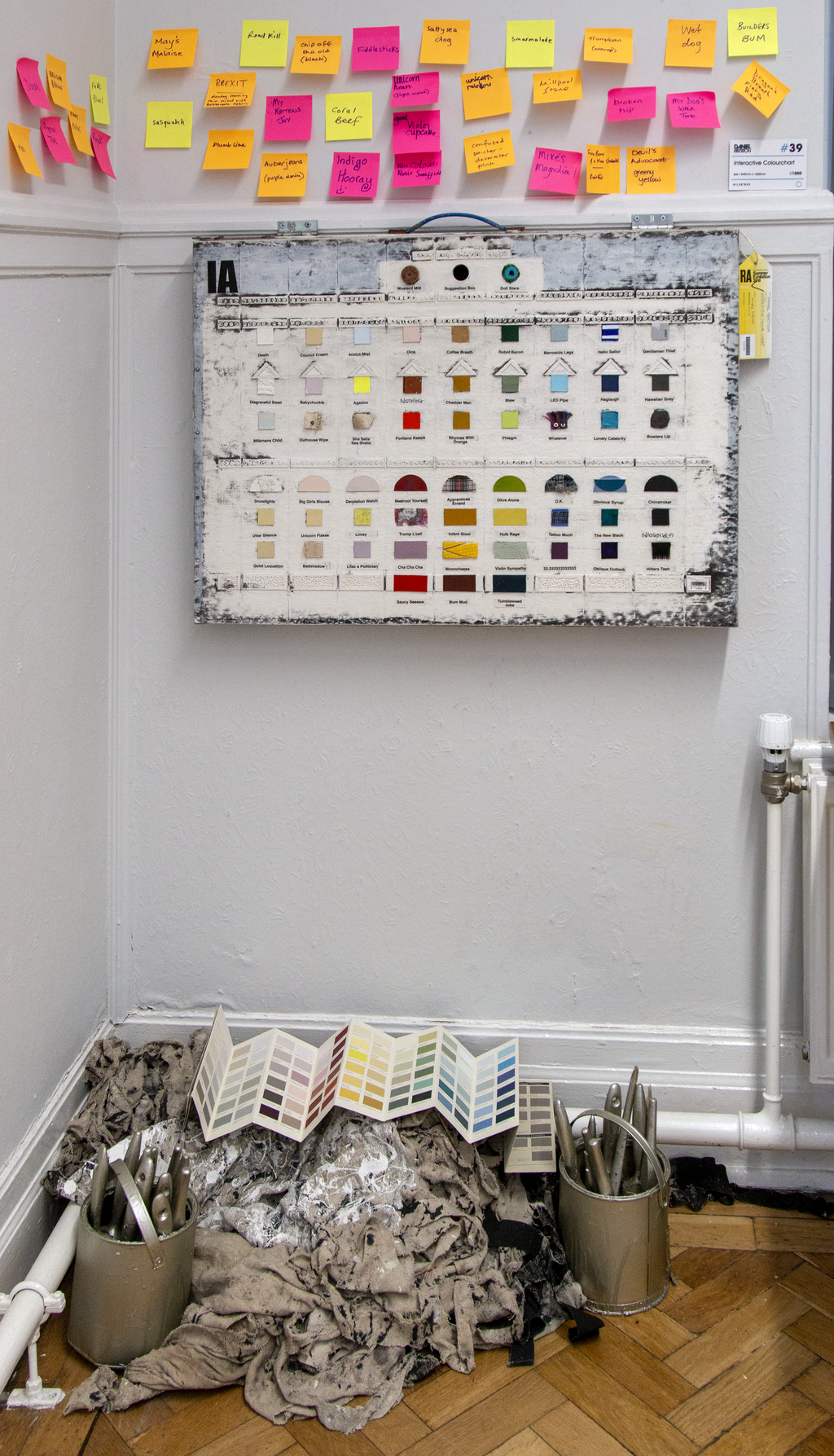 Interactive Colour Chart as displayed during the exhibition