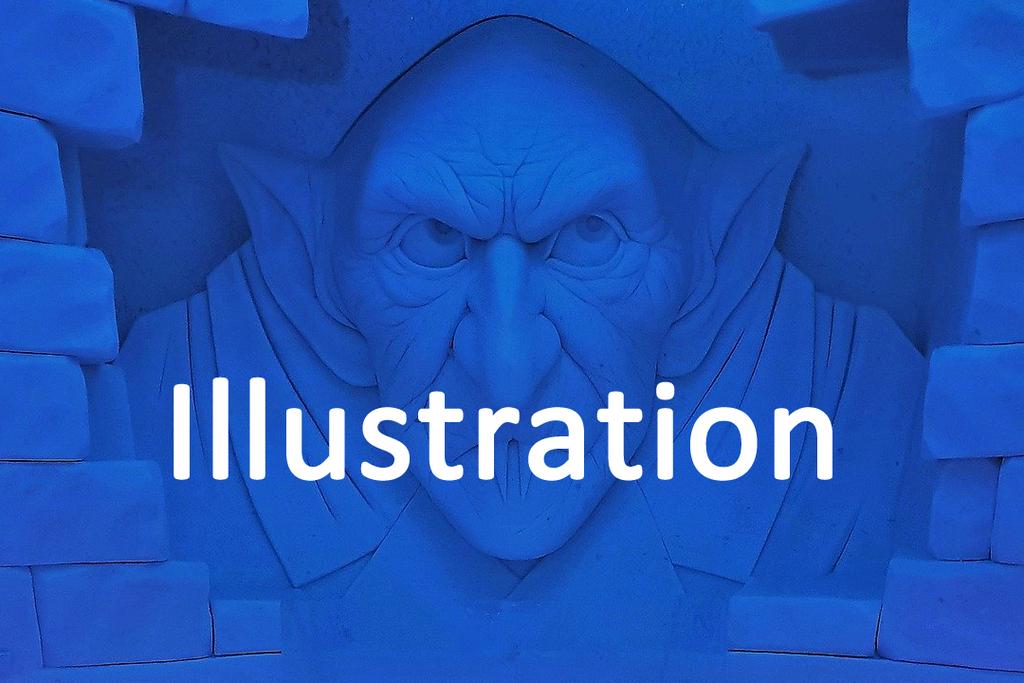 Voix off Illustration bande dessinée