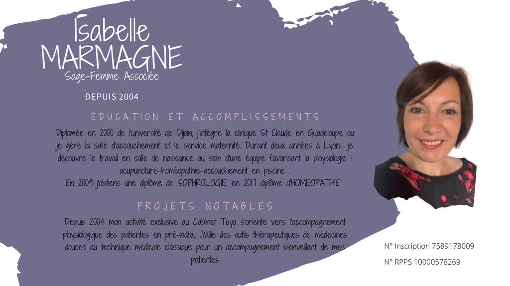 Associée Isabelle Marmagne Cabinet sagesfemmes Tuya