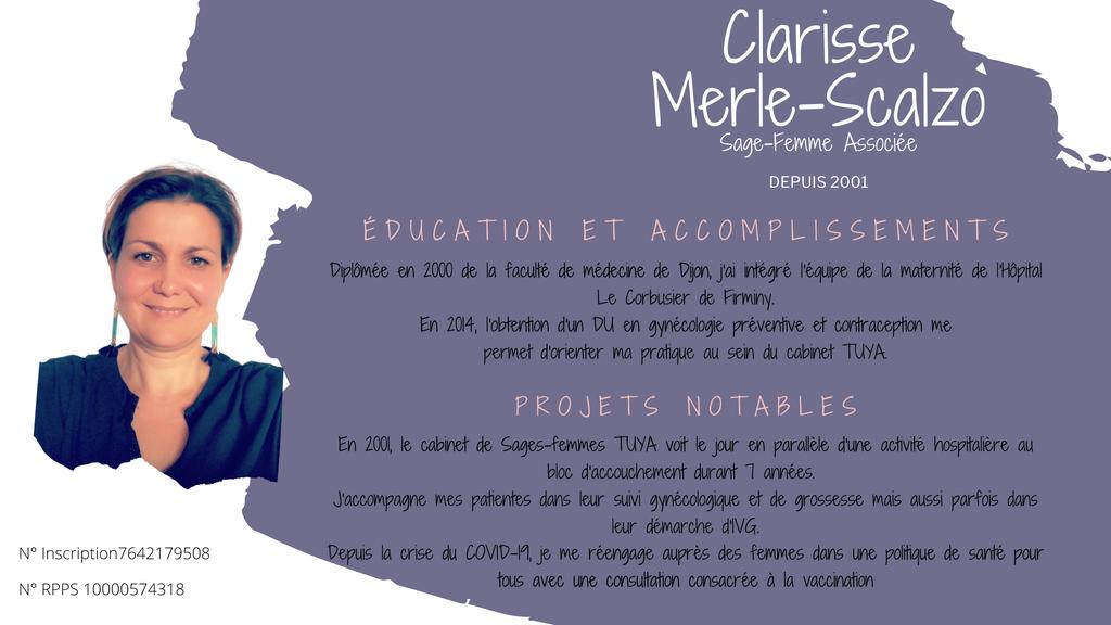 Associée Clarisse Merle-Scalzo CAbinet Sages-Femmes TUYA