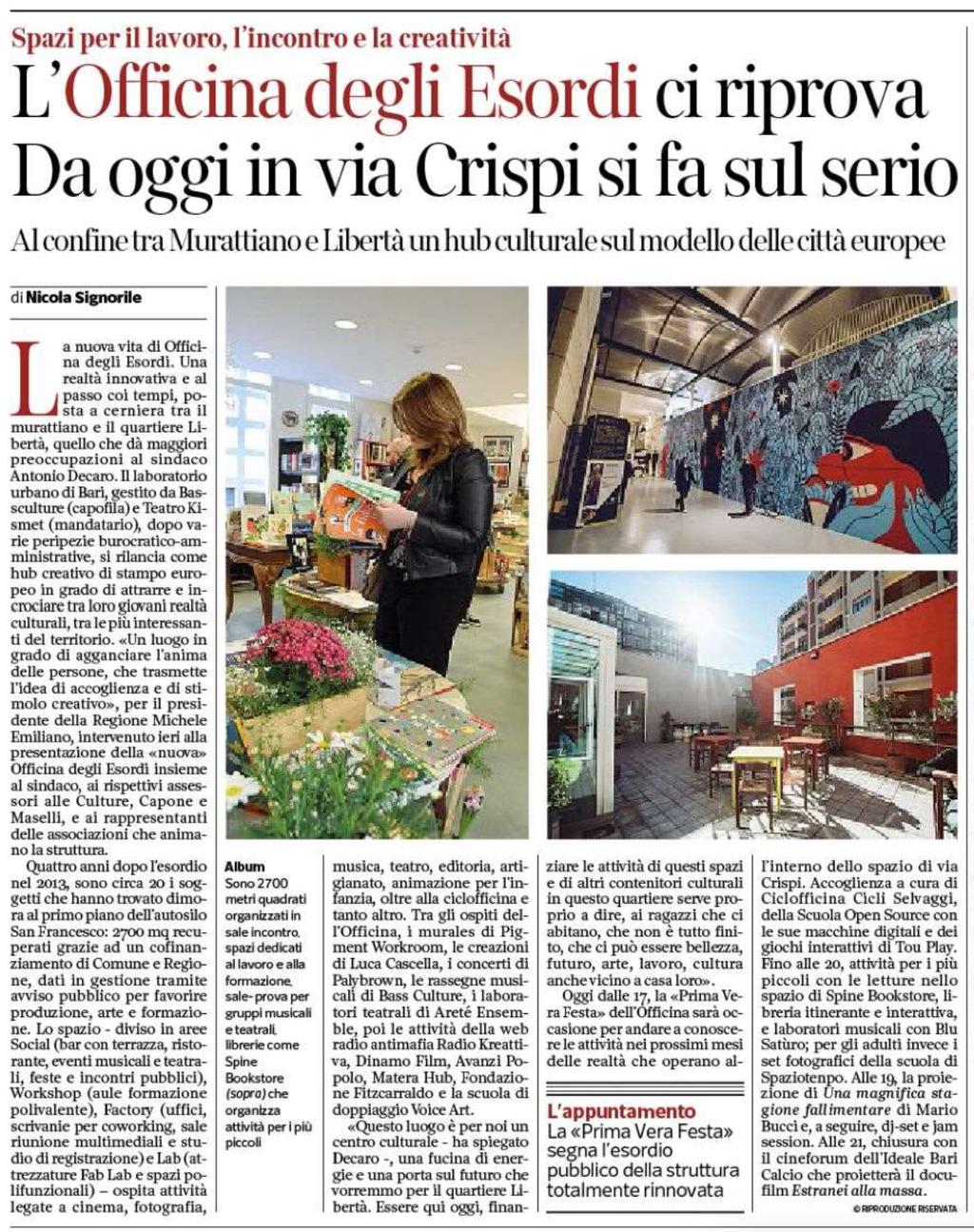 Corriere del Mezzogiorno 21-3-2018
