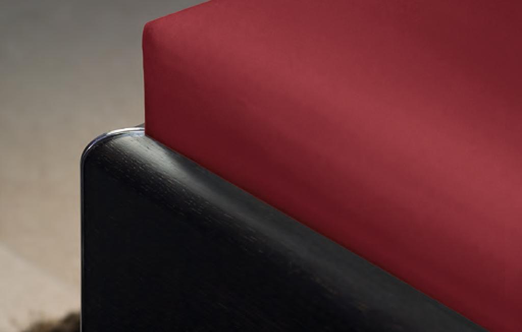 Die Vorderseite des Janine-Spannbetttuches zeigt die perfekte Passform.