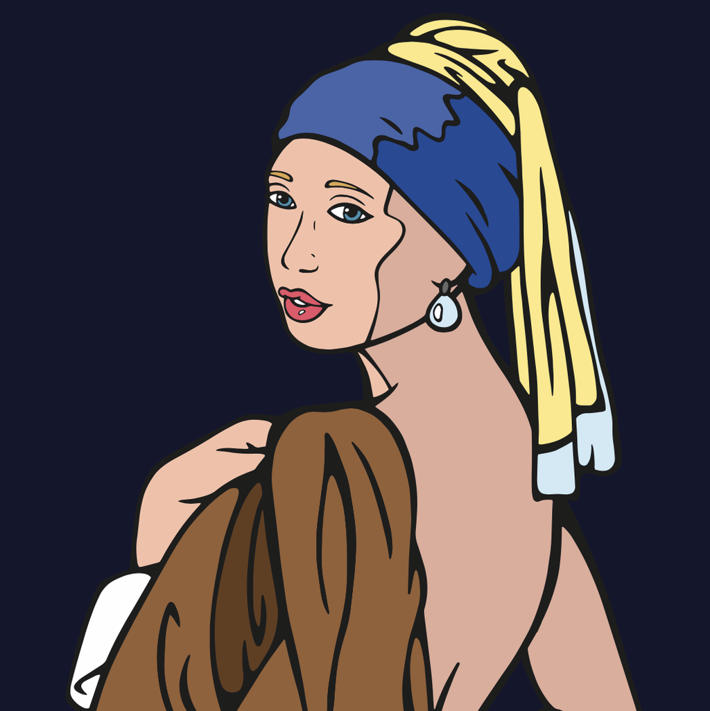 The Girl | When I was 20 I modelled as The Girl with a Pearl Earring. We made pictures that closely resembled the original painting. I wanted to bring back life to the pictures by making them into digital art.