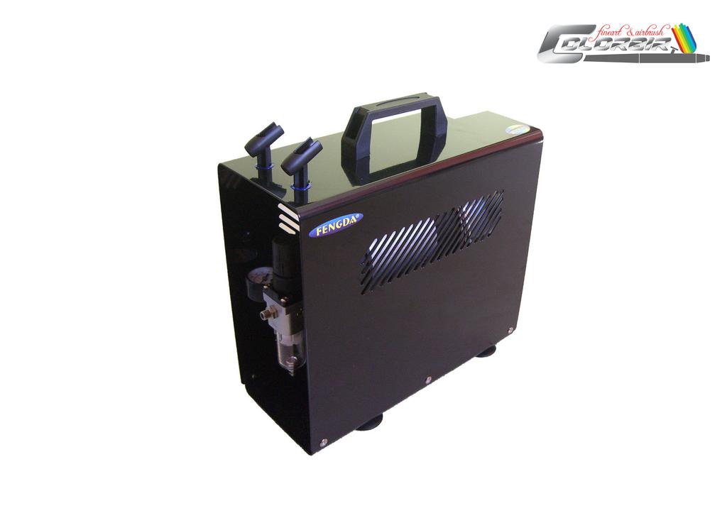 Große Luftleistung: Fengda FD 196 A Doppelkolben und Druckbehälter , der Leistungsstarke für fast alle Einsätze