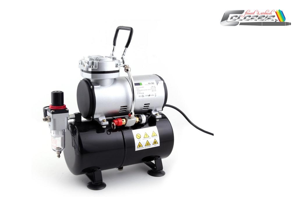Einstiegskompressor: Fengda FD 186 Singlekolben und Druckbehälter, großes Einsatzspektrum