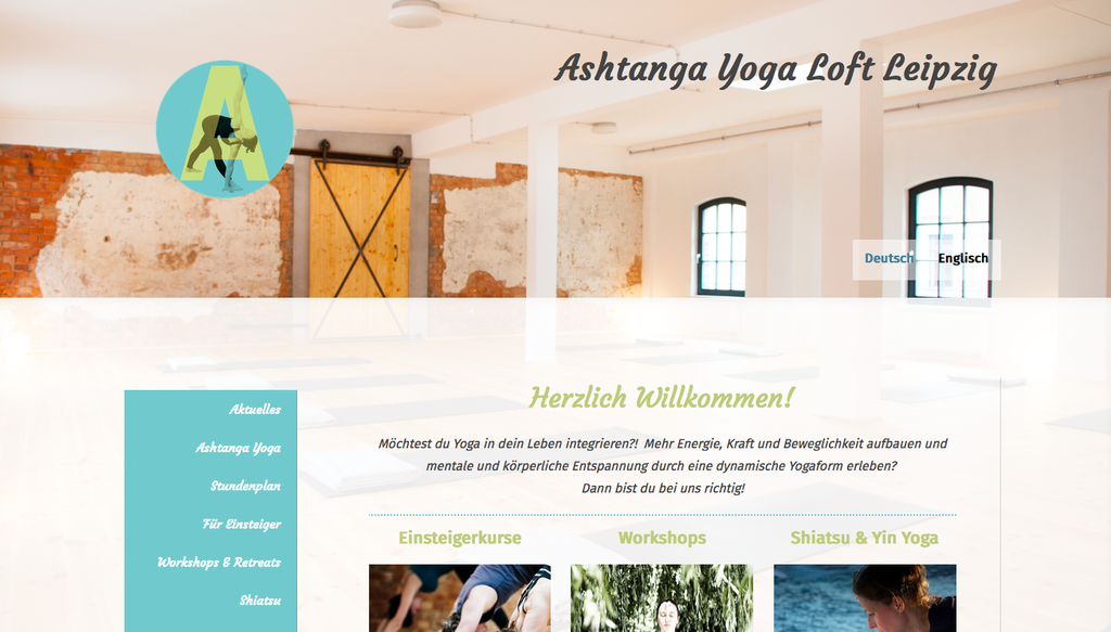Relaunch Responsive Website mit dem Jimdo-Design Hamburg für ein Yoga-Studio in Leipzig