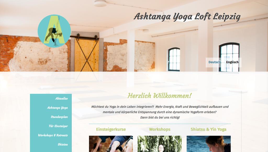 Relaunch Responsive Website mit dem Jimdo-Design Hamburg für ein Yoga-Studio in Leipzig