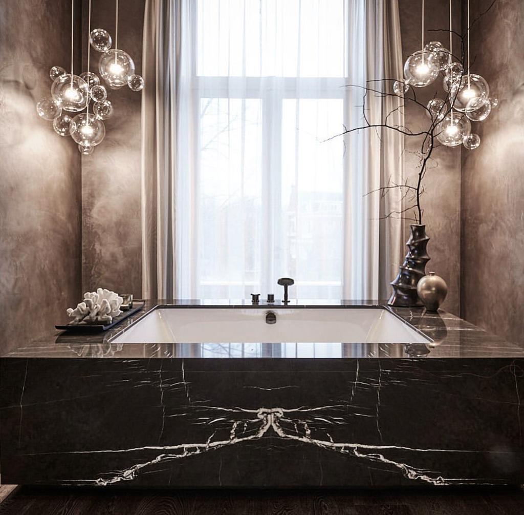 Luxury design with Grafite marble