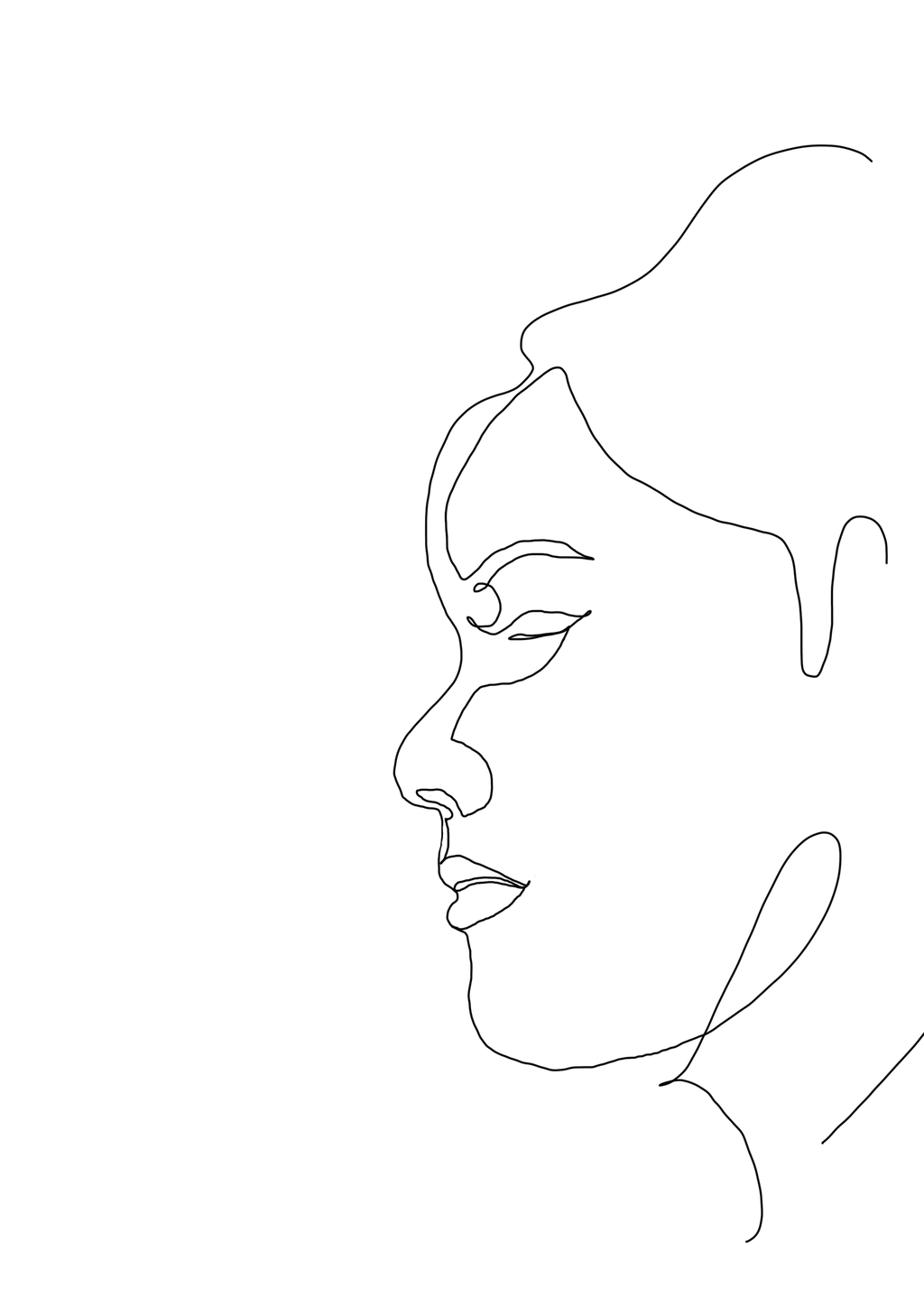 One Line Drawing Woman