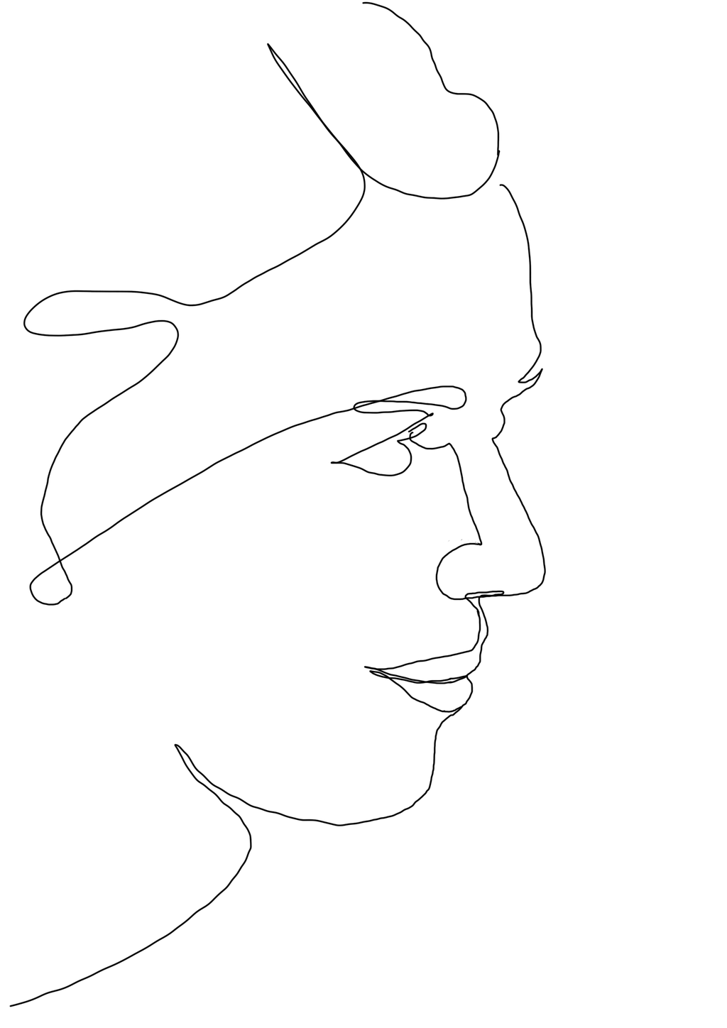 One Line Portrait Woman