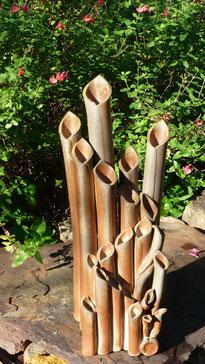 Vase à fût multiples cuit au four à bois - Sylvie Ruiz -