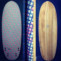 Elleciel Custom Surfboards Phuket Thailand Wood Epoxy EPS Egginos  Mini Simmons Quad
