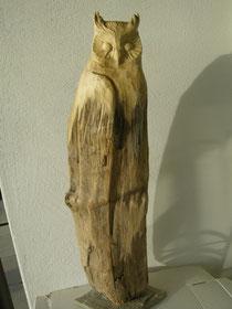 Eulenskulptur Uhu Schnitzerei Eulenfigur