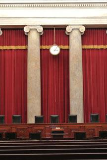 Sitzungssaal im Supreme Court
