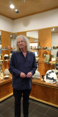 日本語も堪能な陶芸の専門家ロバート・イエリンさん 京都観光タクシー 英語 永田信明