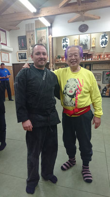 Mit Soke Hatsumi im Februar 2019