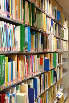 平井喜一郎記念図書館(衣笠キャンパス)に設置されたILOの資料コーナー