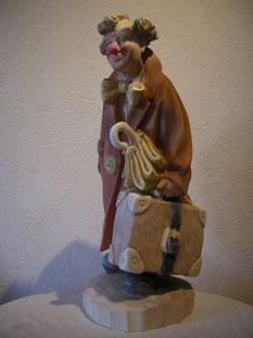 Clown Holzgeschnitzt Holzskulptur Skulptur Paul Widmer