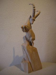 Steinbock Schnitzerei Skulptur Paul Widmer