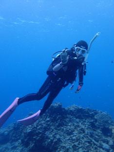 石垣島でのんびりダイビング「一昨年夏の講習生」ヒートハートクラブ