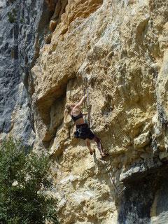 Klettern, Climbing, Südfrankreich, Provence, Buis les Baronnies, Baume Rousse